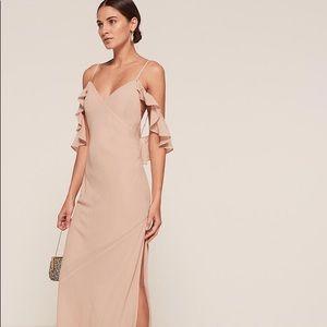 Reformation Ferrara Champagne Dress